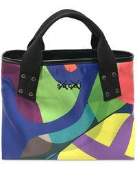Sacai Borsa Shopping Kaws In Nylon - Multicolore