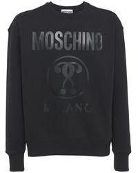 Moschino Sweatshirt Aus Baumwolle Mit Logodruck - Schwarz