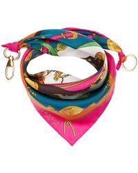 Versace Bandana In Twill Di Seta - Multicolore