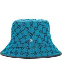 """Gucci Hut Aus Canvas """"gg Multicolor"""" - Blau"""