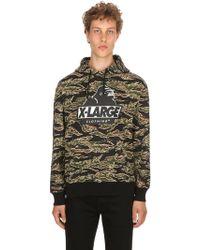 X-Large - Tiger Camo Og Hooded Cotton Sweatshirt - Lyst