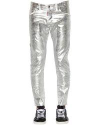 DSquared² 16cm Jeans Aus Gewachstem Denim - Mettallic