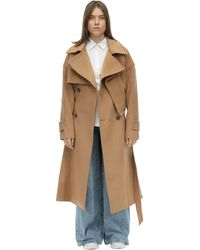 ADER error Oversized Double Breast Wool Coat - Natural