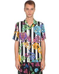 Versace Jeans Couture ビスコースツイルボウリングシャツ - マルチカラー