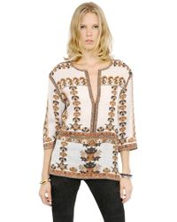 Isabel Marant | Printed Modal Cotton Gauze Top | Lyst