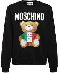 Moschino - Tricolor Teddy コットンスウェットシャツ - Lyst