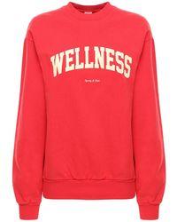 Sporty & Rich Wellness コットンスウェットシャツ - レッド