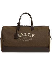 Bally Reisetasche Aus Canvas Mit Logodruck - Braun