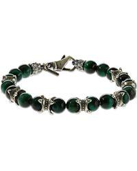 Emanuele Bicocchi Bracelet Avec Perles Œil De Tigre - Vert