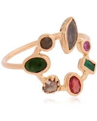 DORETTE - Simple Ring, 18kt Gold - Lyst
