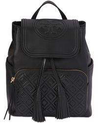 Tory Burch - Fleming Quilted Leather Backpack - Lyst