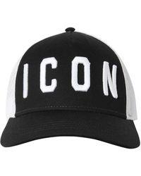 """DSquared² Baseballkappe mit """"Icon""""-Stickerei - Schwarz"""