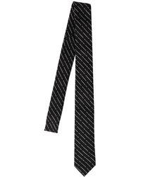 DSquared² Галстук Из Шелкового Жаккарда - Черный