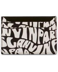 Lanvin Printed Leather Card Holder - Черный