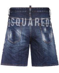 DSquared² Boxer Fit コットンデニムハーフパンツ 36cm - ブルー