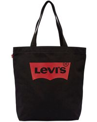 Levi's - Logo Printed Cotton Canvas Tote Bag - Lyst