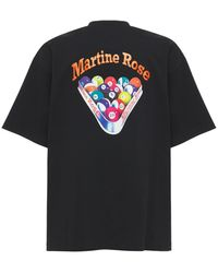 Martine Rose Oversize Printed Cotton Jersey T-shirt - Black