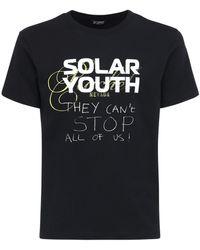 Raf Simons T-shirt Aus Baumwolle Mit Solar Youth-druck - Schwarz