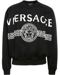 Versace コットンスウェットシャツ - ブラック