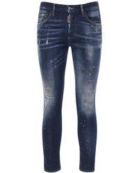 """DSquared² 16.5cm Jeans Aus Stretch-denim """"skinny Dan"""" - Blau"""