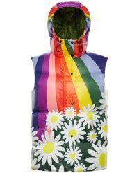 Moncler Genius Richard Quinn Nylon Rainbow Down Vest - Multicolour