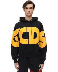 Gcds New Huge Logo Cotton Sweatshirt Hoodie - Черный