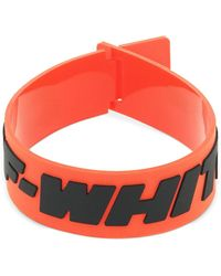 """Off-White c/o Virgil Abloh Schmales Armband """"2.0 Industrial"""" - Rot"""