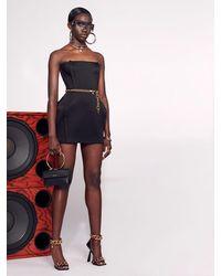 Versace Minikleid Aus Enverssatin - Schwarz