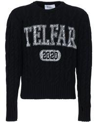 Telfar ウール&カシミアセーター - ブラック