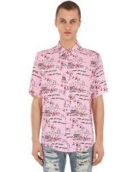 Mauna Kea Hawaii Island プリントシャツ - ピンク