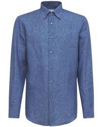 Brioni リネンシャツ - ブルー