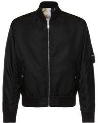 Versace Двухсторонняя Куртка-бомбер Из Нейлона - Черный