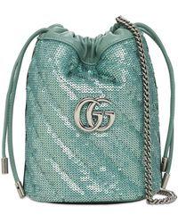 "Gucci - Mini Sac Seau En Sequins ""gg Marmont 2.0"" - Lyst"