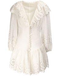Zimmermann 'Bellitude' Minikleid - Weiß