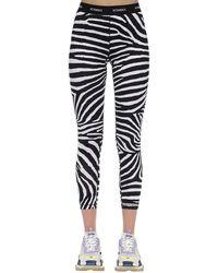 Vetements - Leggings In Lycra Stampa Zebra - Lyst