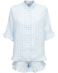 Sleeper Loungewear-pyjama Aus Leinen - Blau