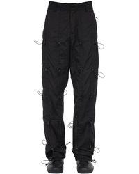 Jaded London Nylon Track Pants W/ Toggle Details - Black