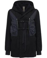 Rick Owens Куртка Из Органического Хлопка - Черный