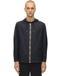 Burberry Icon Stripe Hooded Jacket - Black