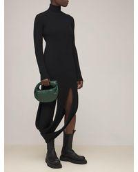 Bottega Veneta Трикотажное Платье Из Смешанной Шерсти - Черный