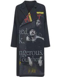 Yohji Yamamoto Платье Из Хлопка С Принтом - Черный