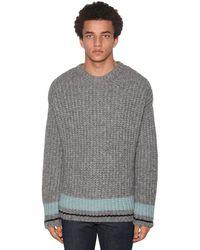 DSquared² Pullover Aus Leichtem Wolljacquard - Grau