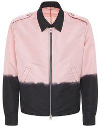 Alexander McQueen Куртка Из Нейлона - Розовый
