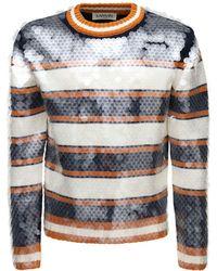 Lanvin スパンコールウールニットセーター - グレー