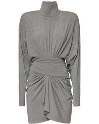 Alexandre Vauthier Платье Из Джерси Меланж - Серый