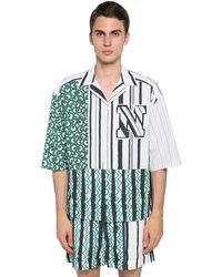 Neil Barrett Рубашка Боулинг Из Хлопка И Купро - Многоцветный
