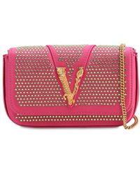 Versace Embellished Satin Shoulder Bag - Multicolor