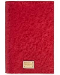 Dolce & Gabbana Dauphine Dg レザーパスポートケース - レッド