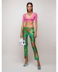 Versace Трикотажные Шорты Из Шелка - Многоцветный