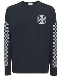 Rhude Classic Check Cotton Sweatshirt - Black